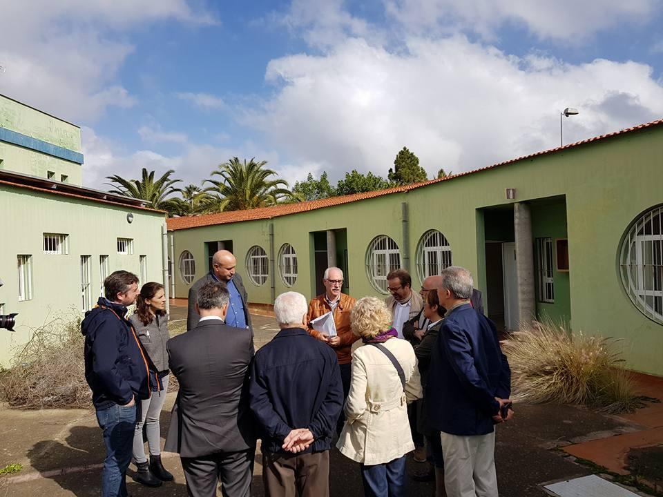 Visita de los responsables del Cabildo a la 'casa verde' en el anterior mandato