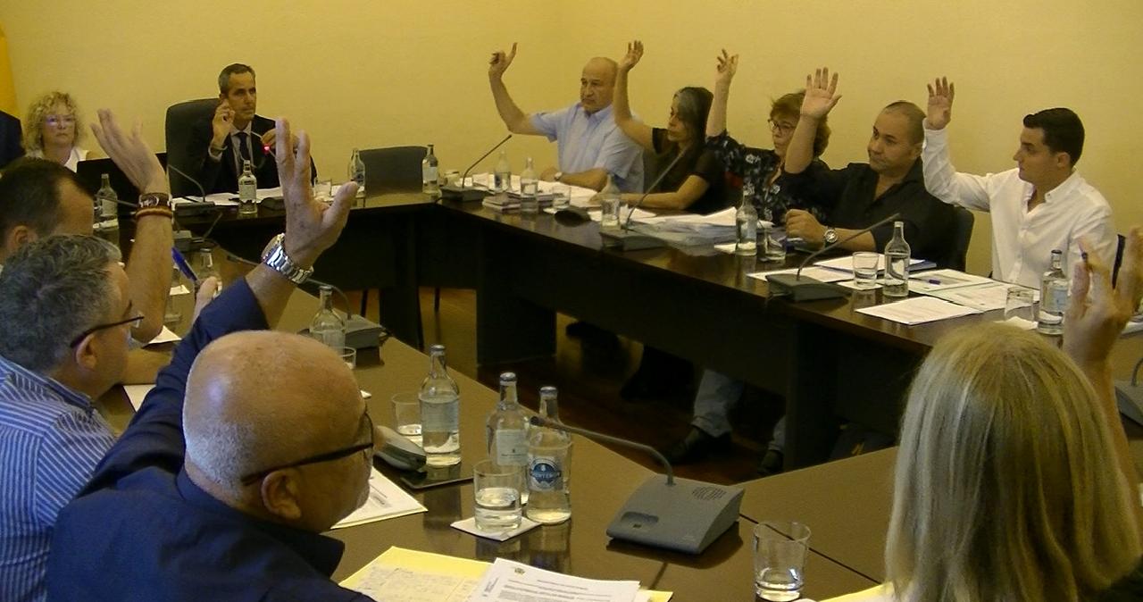 Concejales de ANDO durante un Pleno.