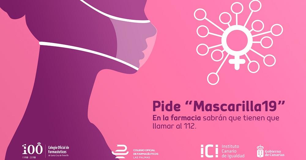 Cartel de la campaña 'Pide mascarilla19' contra la violencia de género durante el confinamiento