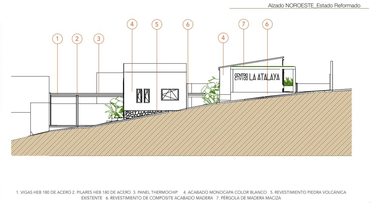 Diseño gráfico del Centro Cívico de La Atalaya