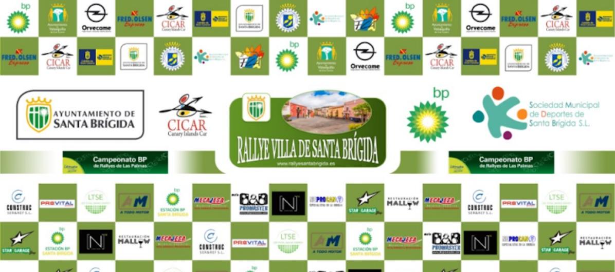 Imagen y patrocinadores del rallye