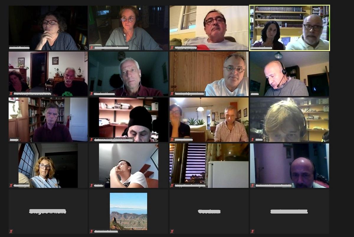 Un aspecto de la reunión celebrada por internet