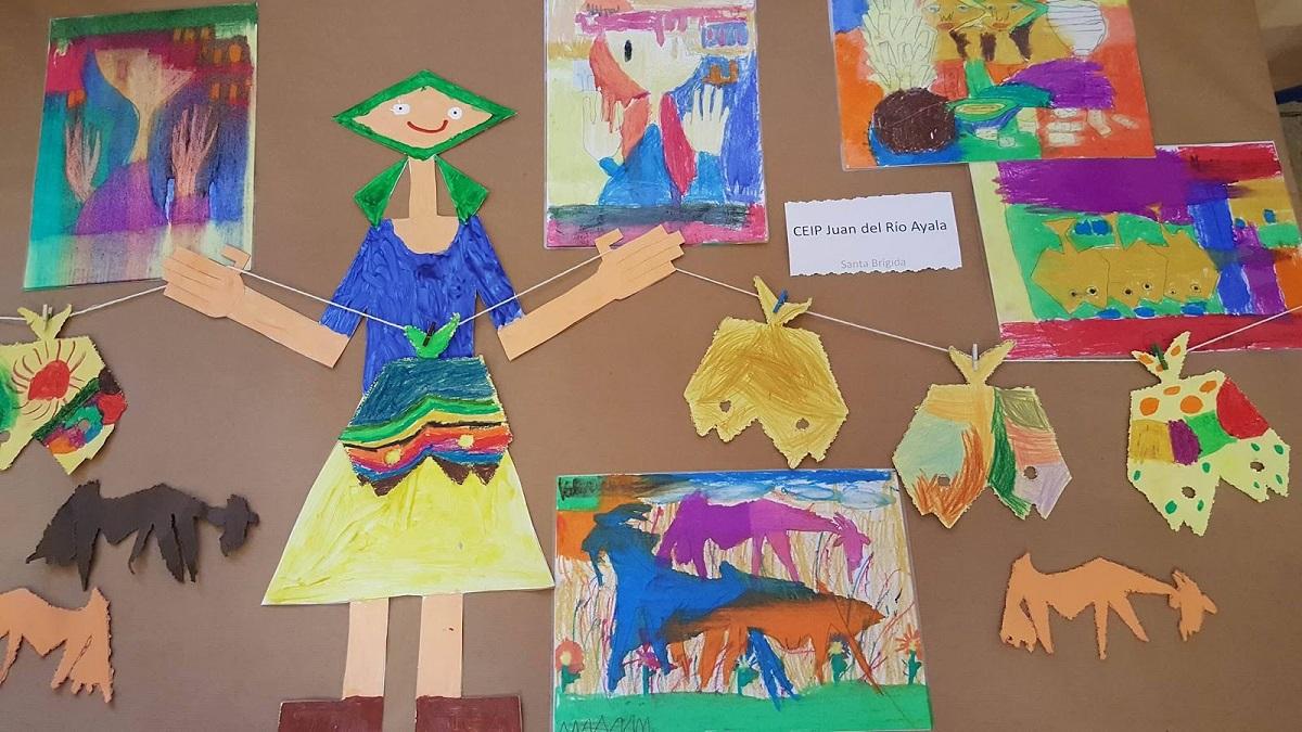 Uno de los trabajos realizados por el alumnado del CEIP Juan del Río Ayala