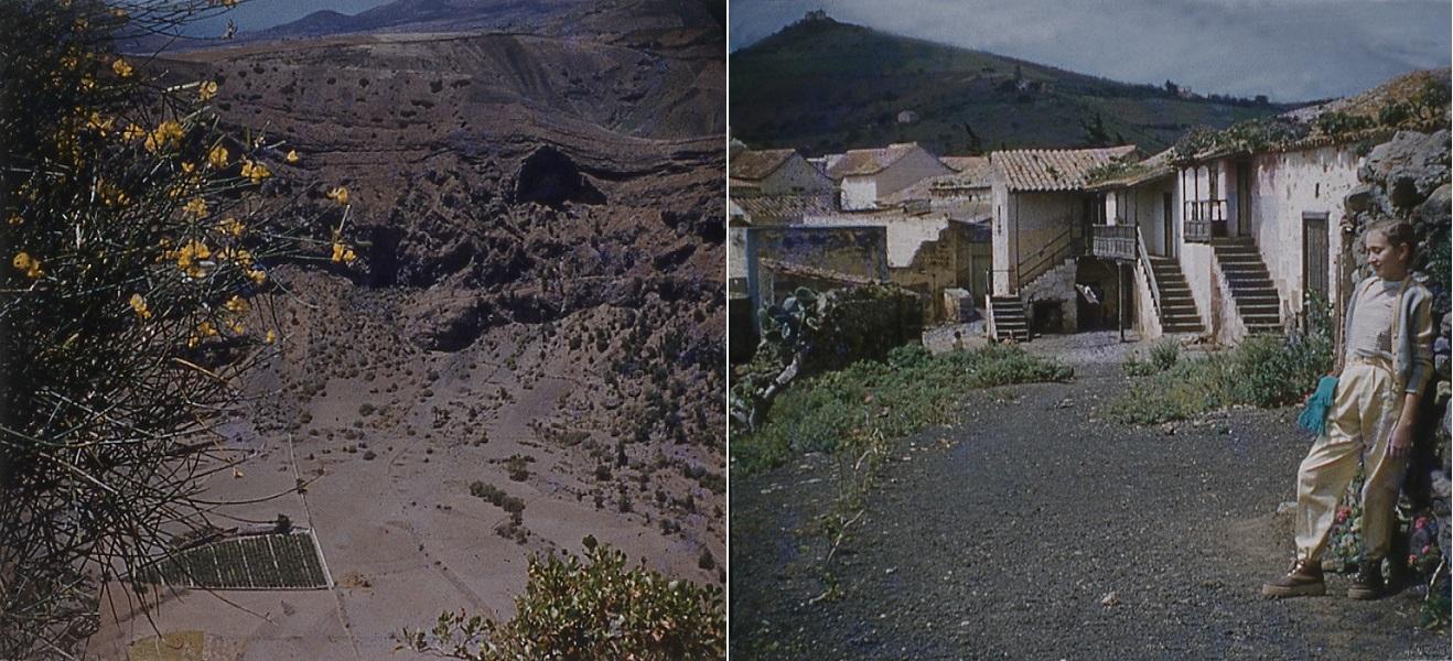 Fotos de Bandama realizadas por Juan Melián Cabrera en 1956 (Colección Rafael Melián García)