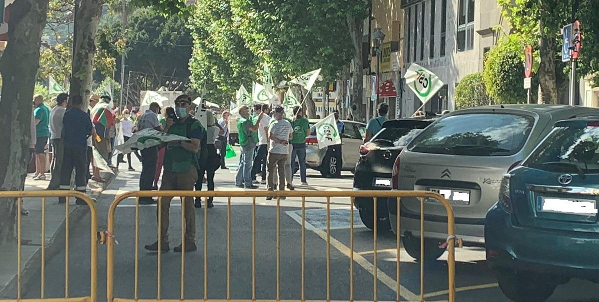 Un aspecto de las protestas del personal municipal